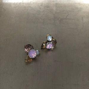 J. Crew cluster stone earrings
